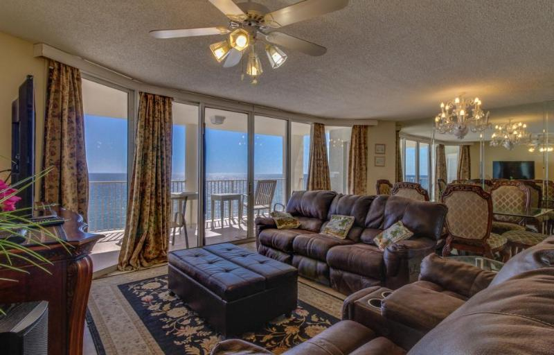 Luxurious oceanfront condo w/ shared pool, hot tub, ocean views & private beach! - Image 1 - Panama City Beach - rentals