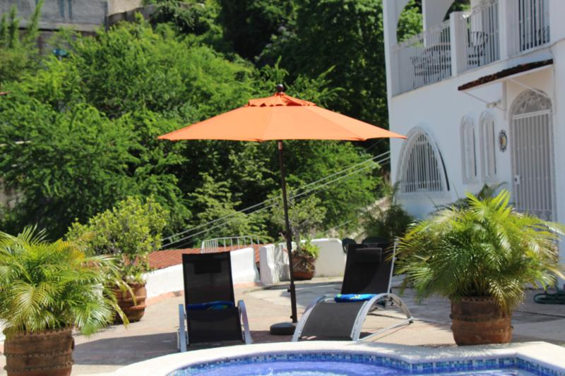 Front of the townhouse by the pool - 3 Bedroom Townhouse in Old Town - Puerto Vallarta - rentals