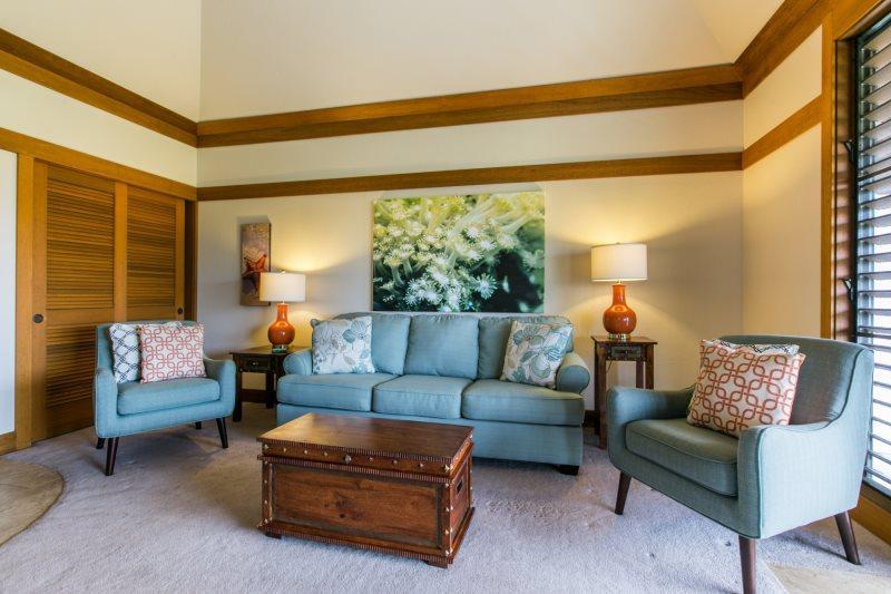 Living Room - Kiahuna 313-Wonderful 1bd sleeps 4 short walk to world class beaches - Poipu - rentals