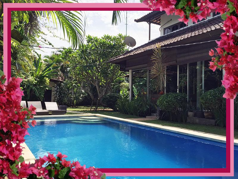 Fully enclosed Villa Palm- glass walled with lockable sliding doors for pool safety. - Villa Palm - fully enclosed A/C pool Seminyak - Seminyak - rentals