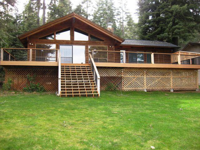 Back of House - Country Club LAKEFRONT with Dock & Buoy - Lake Almanor - rentals