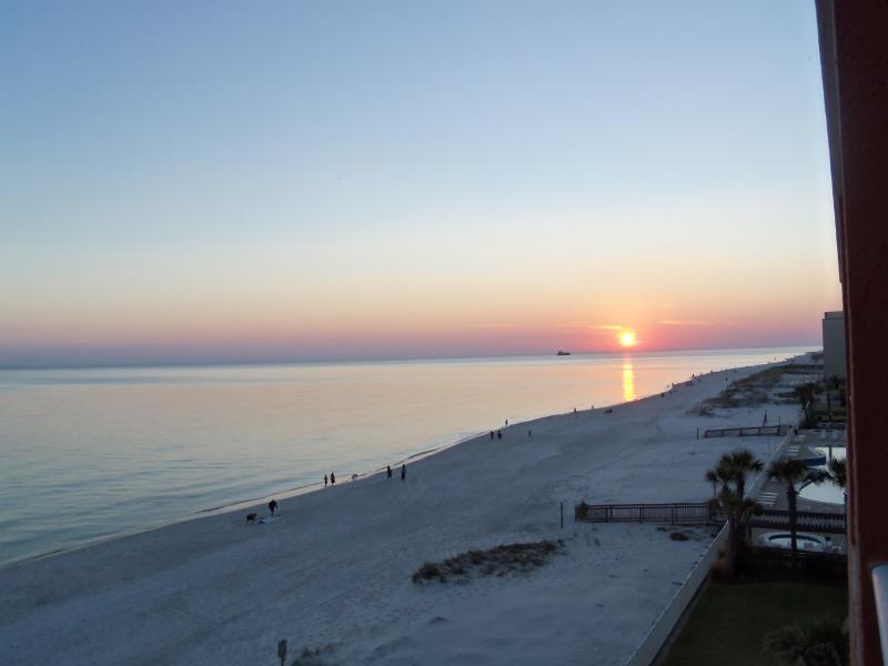 sunset from the deck - Great Family Vacation Condo - Gulf Shores - rentals