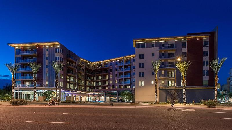 Our community at dusk.  Walk just a few feet to The Scottsdale Quarter & Commons - Scottsdale Quarter-ALL NEW-Two Bedroom-Two Bath - Scottsdale - rentals