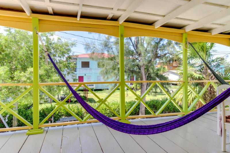 Colorful,  relaxing, & ocean front island villa near beach and town! - Image 1 - Caye Caulker - rentals