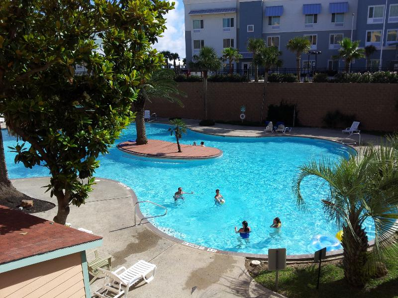 View From Balcony - Awesome Luxury Resort Pool View, Beach Condo - Galveston - rentals