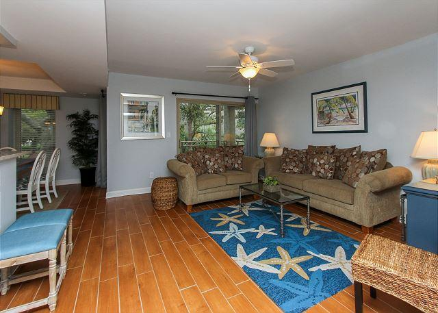 Living Area - 1804 Bluff Villa - Fully Renovated and so much more! Steps to Beach & Marina - Hilton Head - rentals