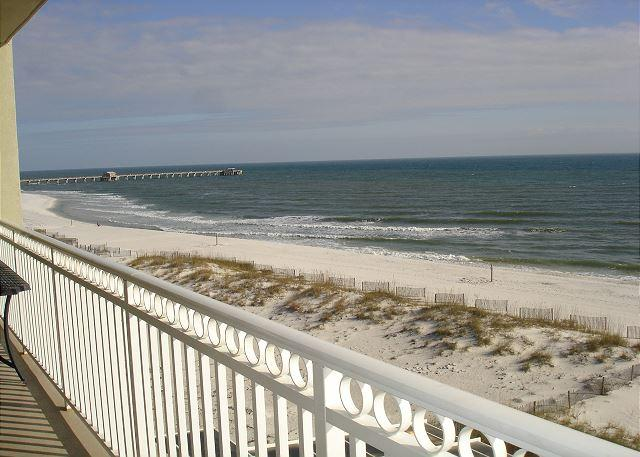 Balcony view - Beautifully decorated 3 bedroom 3 bath unit beachfront in Gulf Shores - Gulf Shores - rentals