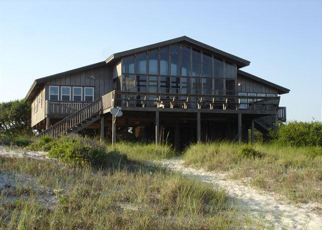 View of the house from the beach - Beach house in Orange Beach directly on the beach - Orange Beach - rentals