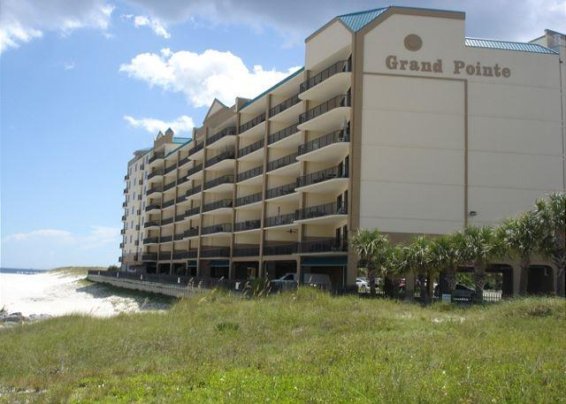 Building facing the Alabama Pointe waterway - Outstanding views from the balcony of 2 bedroom,  2 bath condo - Orange Beach - rentals