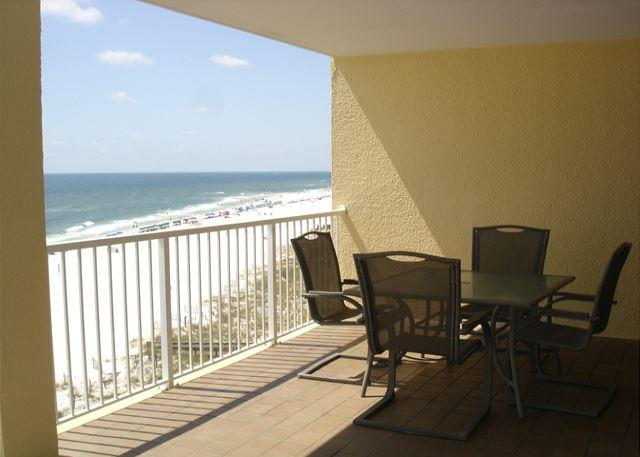 Large balcony at Summer House facing the beach - Beachfront 3 bedroom and 2 baths large balcony to view the gulf - Orange Beach - rentals