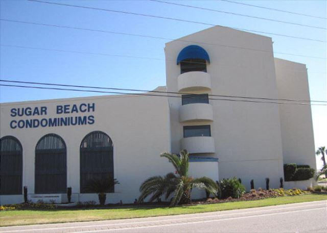 Street side view of Sugar Beach condos - Popular complex in Orange Beach - Orange Beach - rentals