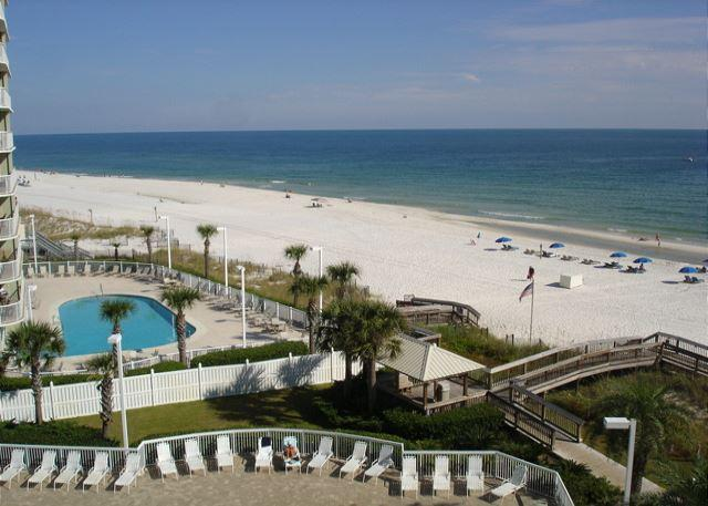 View of the gulf and beach from the unit balcony - 2 Bedrooms 2 bath beachfront with an unbelievable gulf view - Orange Beach - rentals