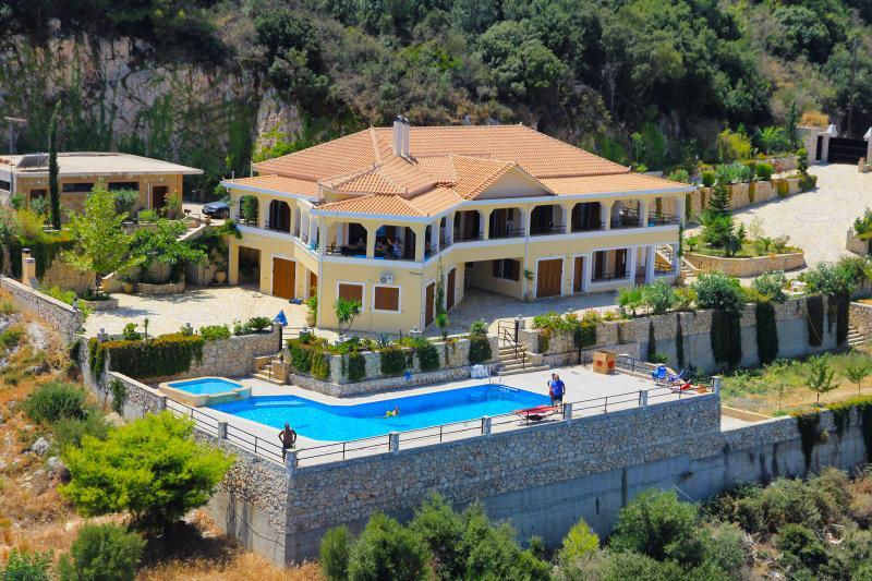 Aerial View of Villa Akros - Villa Akros at Zakynthos - Limni Keri - rentals