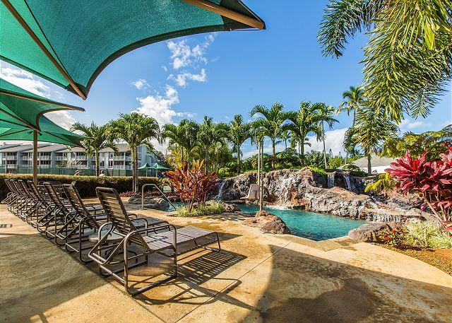 Cliffs Pool - THE CLIFFS AT PRINCEVILLE #7301, Ocean Bluff View, Free Wifi & Parking - Princeville - rentals