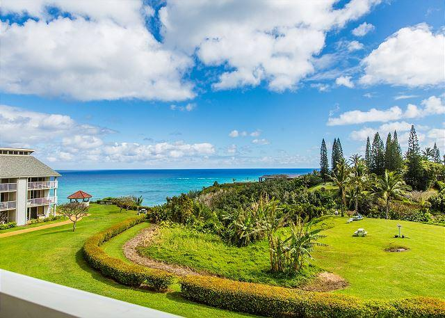 Spectacular Ocean View from Lanai - Cliffs at Princeville #7302 Ocean Bluff North Shore Resort, Free Wifi/Parking - Princeville - rentals