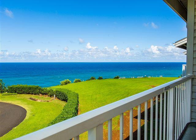 Ocean view Lanai - Cliffs at Princeville #9306, Ocean Bluff, North Shore Resort with AC! - Princeville - rentals