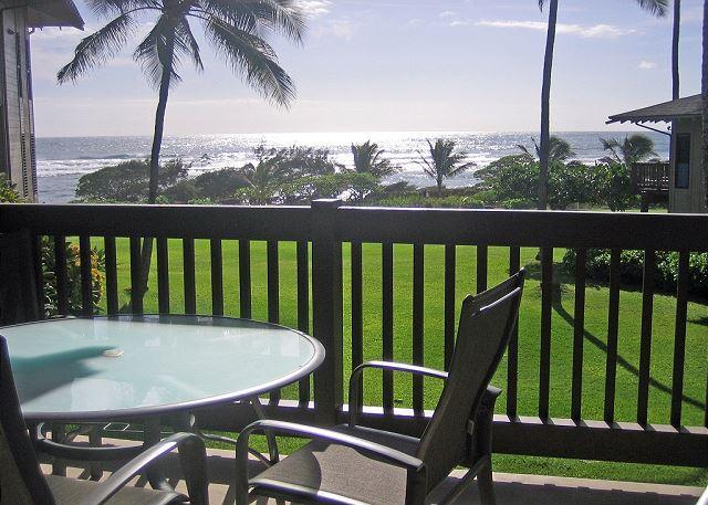 Morning ocean view - Kaha Lani Resort #214, Ocean View, Steps to Beach, Free Wifi & Parking - Lihue - rentals