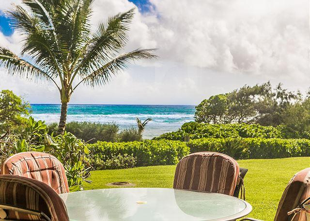 Oceanfront Lanai View - Kaha Lani Resort #119, Oceanfront, Steps to Beach, Free Wifi & Parking - Lihue - rentals