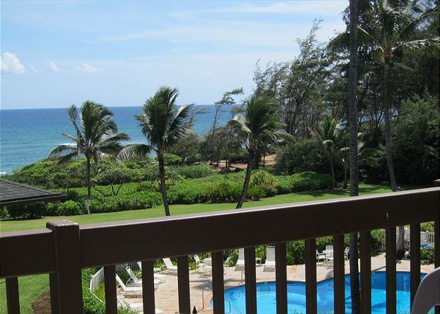 lanai view - Kaha Lani 311, Great Ocean & Sunrise Views, Steps to Sandy Beach, Near Town - Lihue - rentals