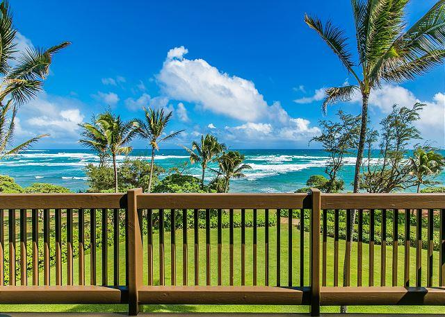 Oceanfront Lanai View - Kaha Lani Resort #326, Oceanfront, Steps to Beach, Free WiFi & Parking - Lihue - rentals
