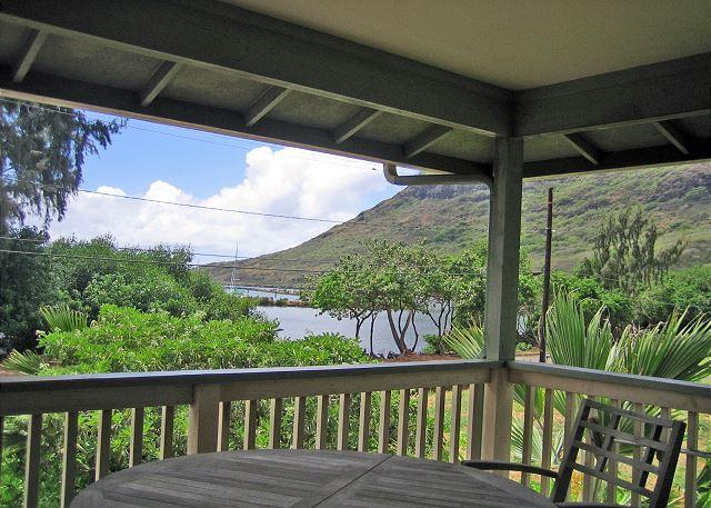Outdoor Lanai area - Na Hoa River Home, Ha'upu Mt. Views, Near Menehune Fish Pond & Kalapaki Bay - Lihue - rentals