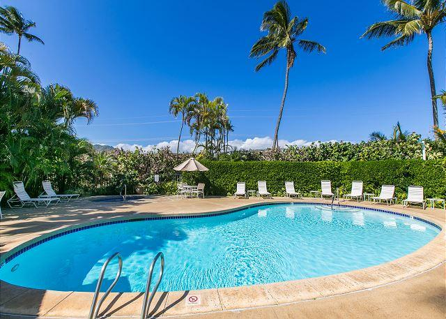 Plantation Hale Pool (1 of 3) - Plantation Hale D13, Near shops, restaurants and beaches.  Air conditioned! - Kapaa - rentals