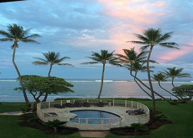 Sunset from your Lanai - Kauai Kailani 308, Kapaa Oceanfront, Air Condition, Sunrise & Moonrise Views - Kapaa - rentals