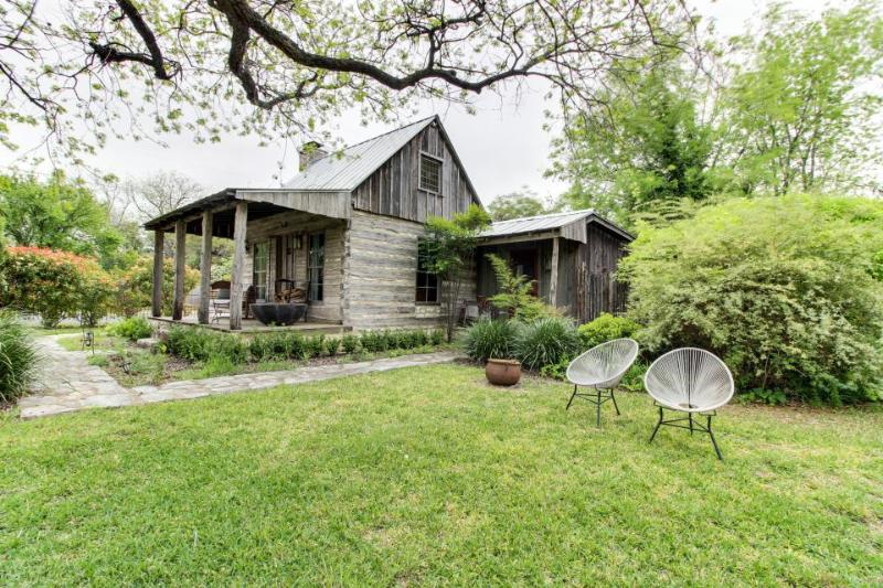 Romantic, historic cabin with koi pond, breakfast included - Image 1 - Fredericksburg - rentals