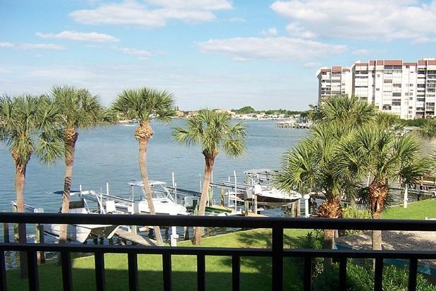 Waterfront Balcony View - Waterfront Treasure Island Florida Beach Condo - Treasure Island - rentals
