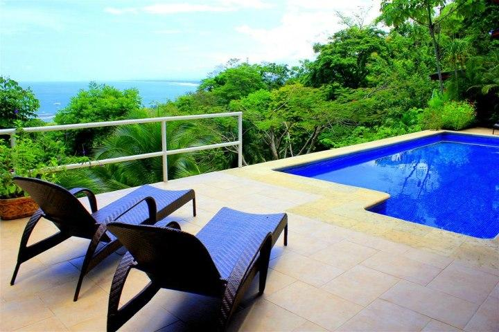 pool side patio - Casa Vida, Ocean and coastal View home - Manuel Antonio National Park - rentals
