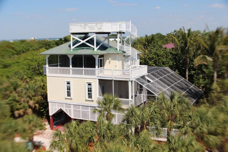 Gorgeous view of Manatee Haven. - Beach Home w/ Screened In Pool, Hot Tub, Elevator - North Captiva Island - rentals