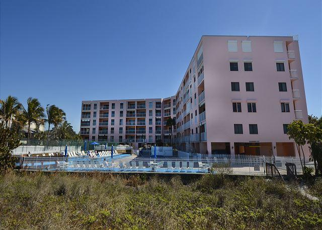 Back of building view from beach - TRULY A VACATION BY THE SEA!  This home is Seaside Inspired! - Indian Rocks Beach - rentals