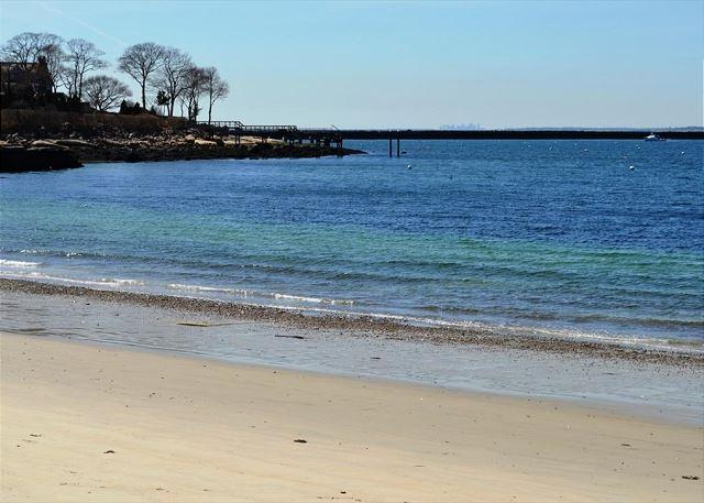 Private Beach 75 yards from the house - Eastern Point on the Sea:  Water views, private beach and gorgeous sunrises - Gloucester - rentals