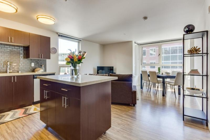 Dog-friendly condo with an ideal location, shared roof decks, a gym & game room! - Image 1 - Seattle - rentals