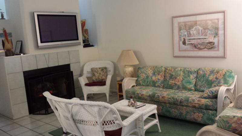Bright and comfortable living area, with large screen tv and electric fireplace - Renting summer 2017!   huge beachblck  4 br 3 ba - Ocean City - rentals