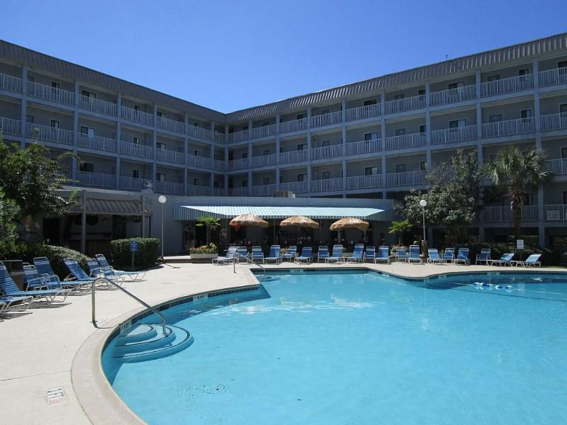 Outdoor pool at building one - Beautiful Ocean, Marsh, Lagoon View-Walk to Beach - Hilton Head - rentals