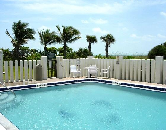 Beautiful oceanfront heated pool. - ** Oceanfront, 25 Steps to Beach, Gorgeous! ** - Cape Canaveral - rentals