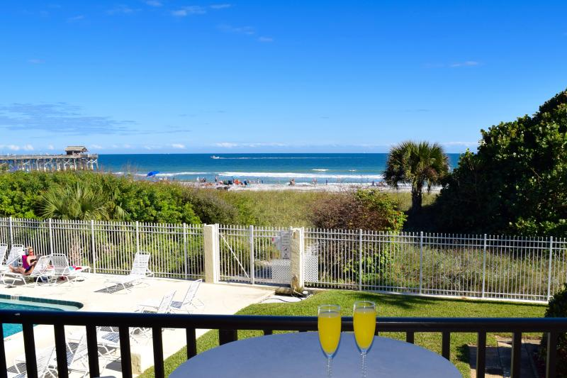 Enjoy a fantastic view of the ocean, pier and pool right from your balcony. - ** DIRECT Ocean Corner Unit - Right by the Pier ** - Cocoa Beach - rentals
