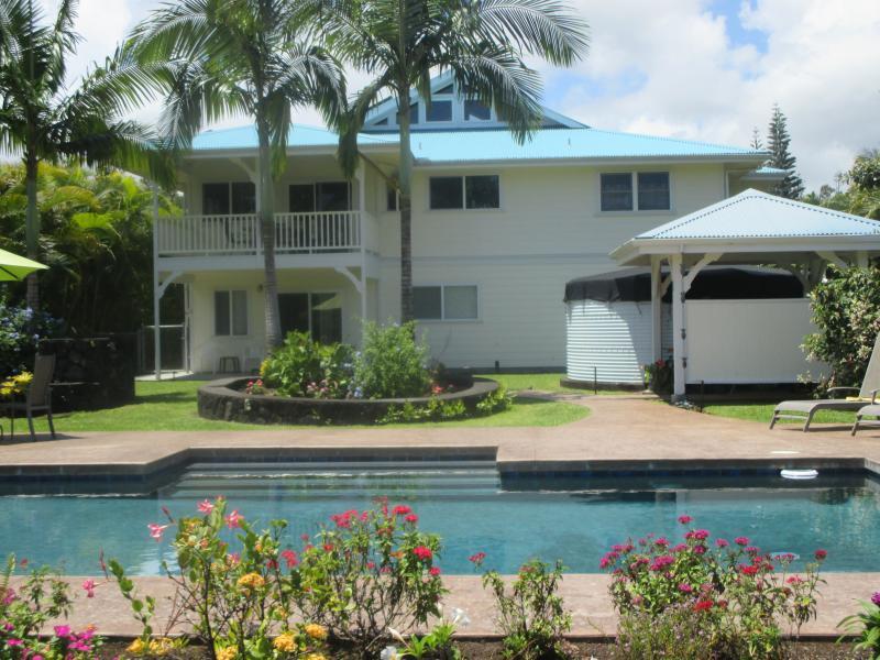 Beautiful custom plantation style home with private pool. - Custom Home w\POOL 1000 feet from the ocean! - Keaau - rentals