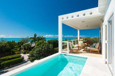 Chic 2 Bedroom Ocean View Villa with Pool on Taylor Bay - Image 1 - Providenciales - rentals