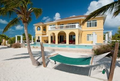 Spacious 5 Bedroom Beachfront Villa with Pool on Turtle Tail - Image 1 - Leeward - rentals
