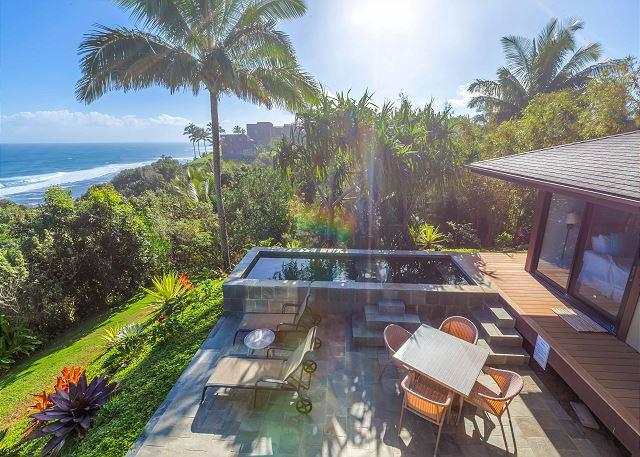 Ocean Bluff, Pristine Views! 3 bedroom, 4 bath w/Pool - Image 1 - Princeville - rentals