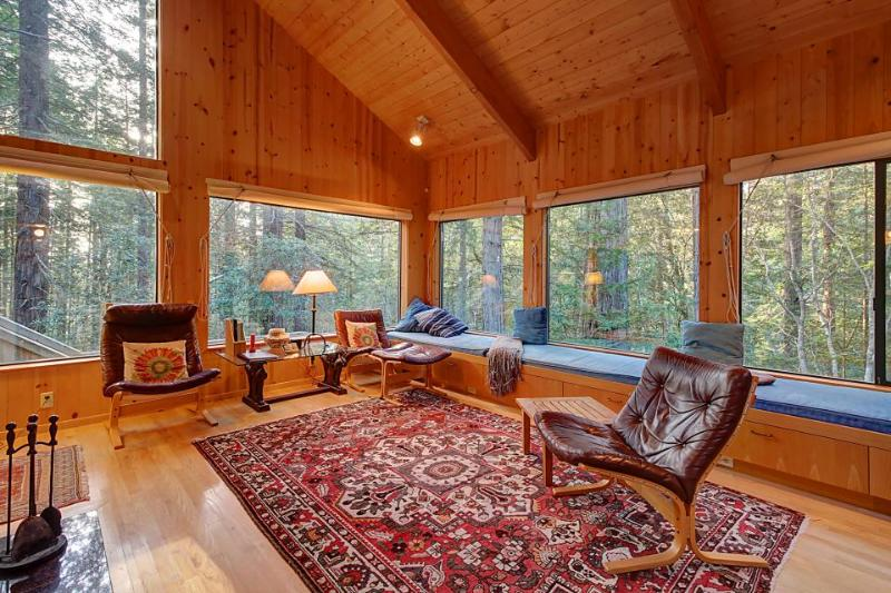 Charming forest lodge w/ private hot tub, sauna & fireplace! Shared pool access! - Image 1 - Sea Ranch - rentals