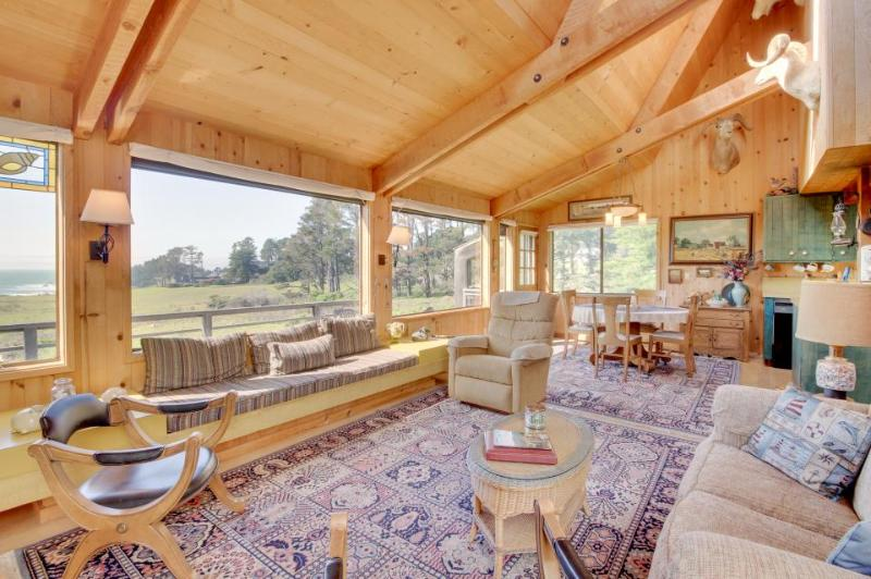 Rustic Sea Ranch home with incredible ocean view, shared pool, & dog-friendly! - Image 1 - Sea Ranch - rentals