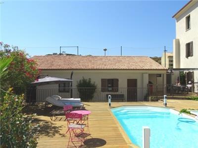"""pavillon """"Francesca """"dans patio au centre de Calvi avec piscine et à 100m de la - Image 1 - Calvi - rentals"""