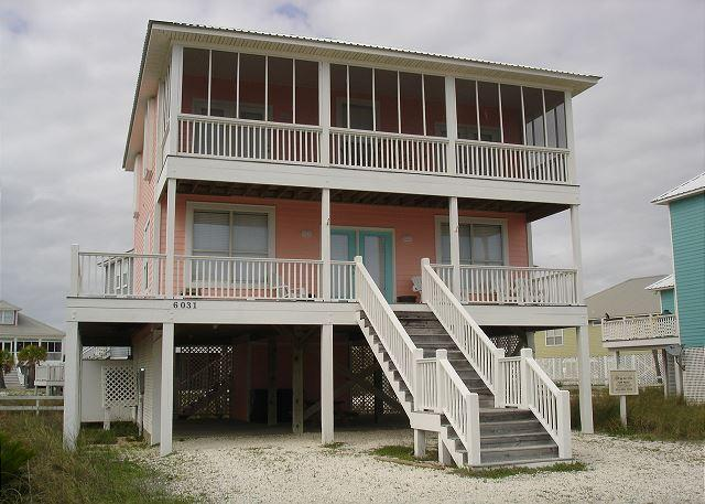 Front of the house - Morgantown beach house 4 bedroom 2.5 baths beachview - Fort Morgan - rentals