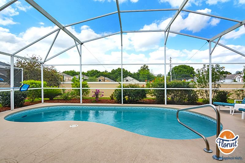Private Pool Area! Get the pool heated during the cold months for fee! - Disney Area 4 Bedroom Pool Home w/ Game Room - Davenport - rentals