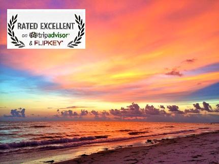 TripAdvisor Excellence badge - Beachfront Condo on Anna Maria Island - Excellence Award - Holmes Beach - rentals