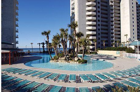 Lagoon Pool.....there are 3 Pools and 3 Hot Tubs..... - 2BR/2BA Long Beach Resort with Fabulous Gulf Views - Panama City - rentals