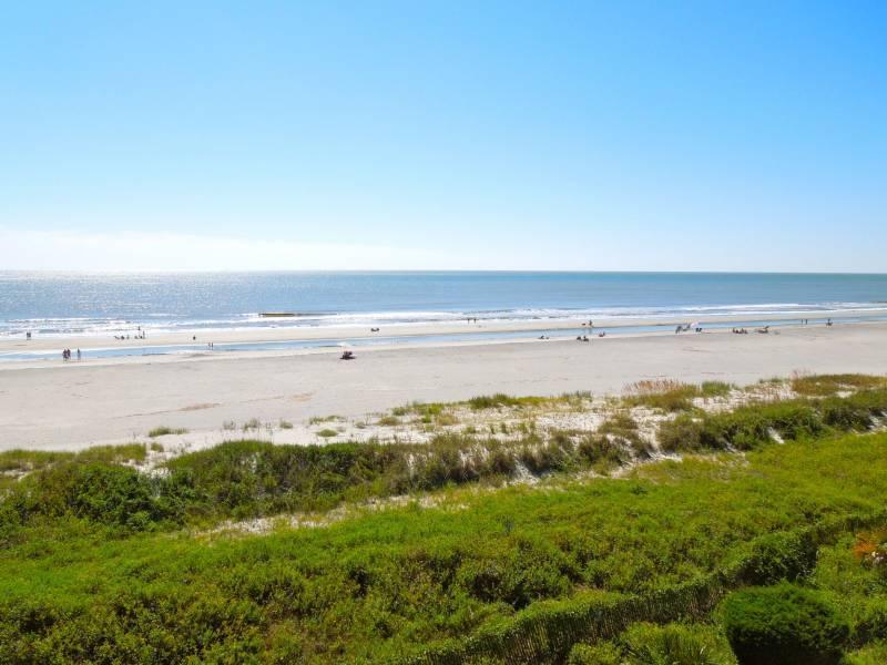 View Down the Beach - Ocean Pointe Villa 302 - Folly Beach, SC - 3 Beds BATHS: 3 Full - Folly Beach - rentals